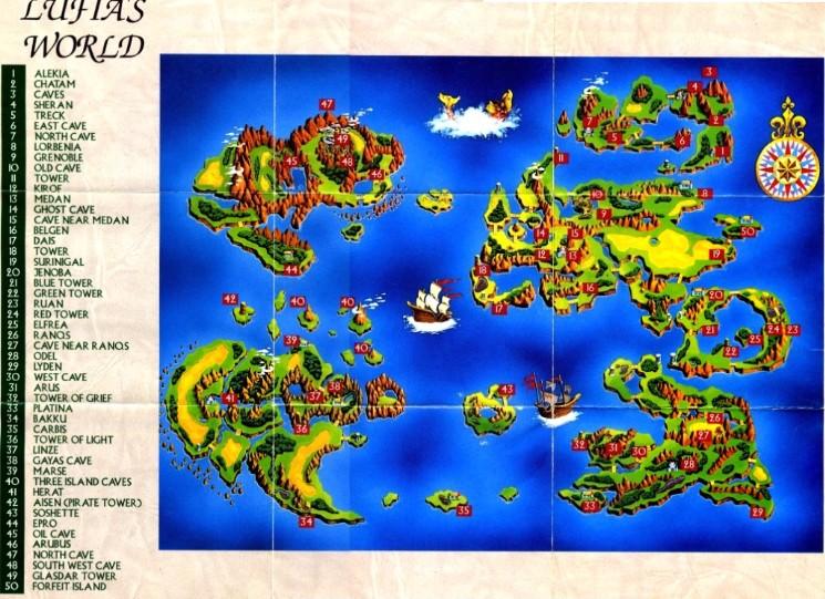 Lufia 2 World Map Alekia | Lufia Wiki | Fandom