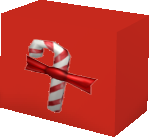 Gift with Candy Cane Stripes