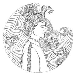 Coloring book character profile Kai.png