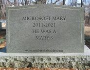 Microsoft Mary RIP