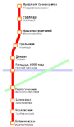 Действующая линия Ебургского метро