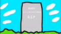 Mary's gravestone
