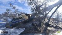 Crashed-plane