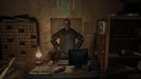 Мельник в своём кабинете