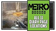 Metro Exodus Sam's Story All Diary Locations