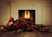 Deadpool przy kominku