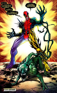Wade Wilson Earth-616 and Lasher War dog Earth-616 from Deadpool vs. Carnage Vol 1 3