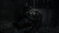 Бурбон обыскивает труп сталкера