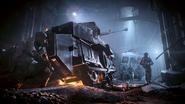 Подорванный танк Метромахта