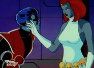 Nightcrawler i Mystique z kreskówki X-men (1992)