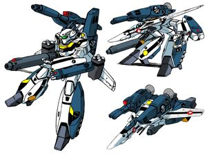 "Equipped with an upgraded Shinnakasu FAST ""Strike"" Pack, the VF-1S becomes the ""Strike"" Valkyrie."