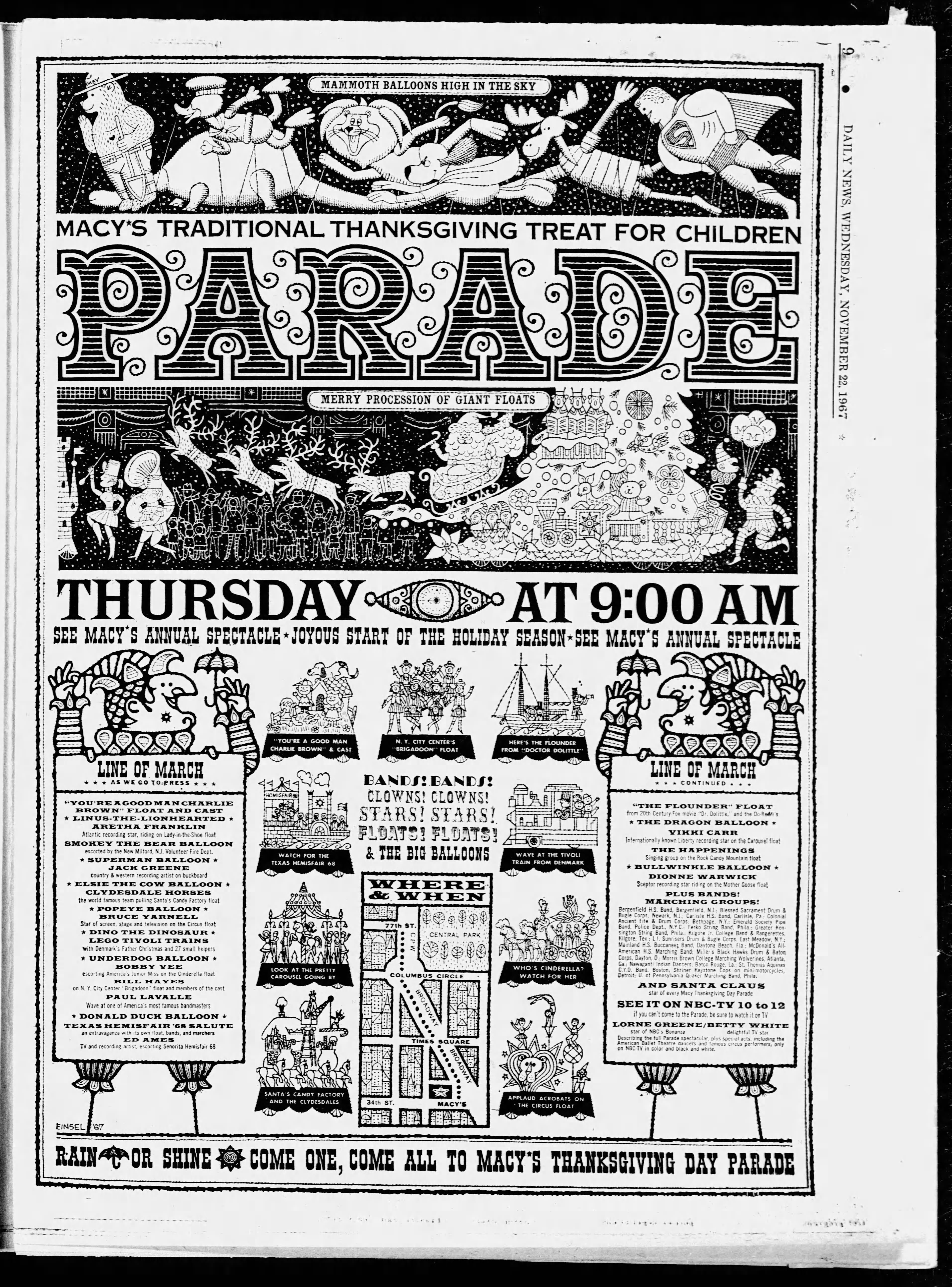 The 41st Annual Macy's Thanksgiving Day Parade