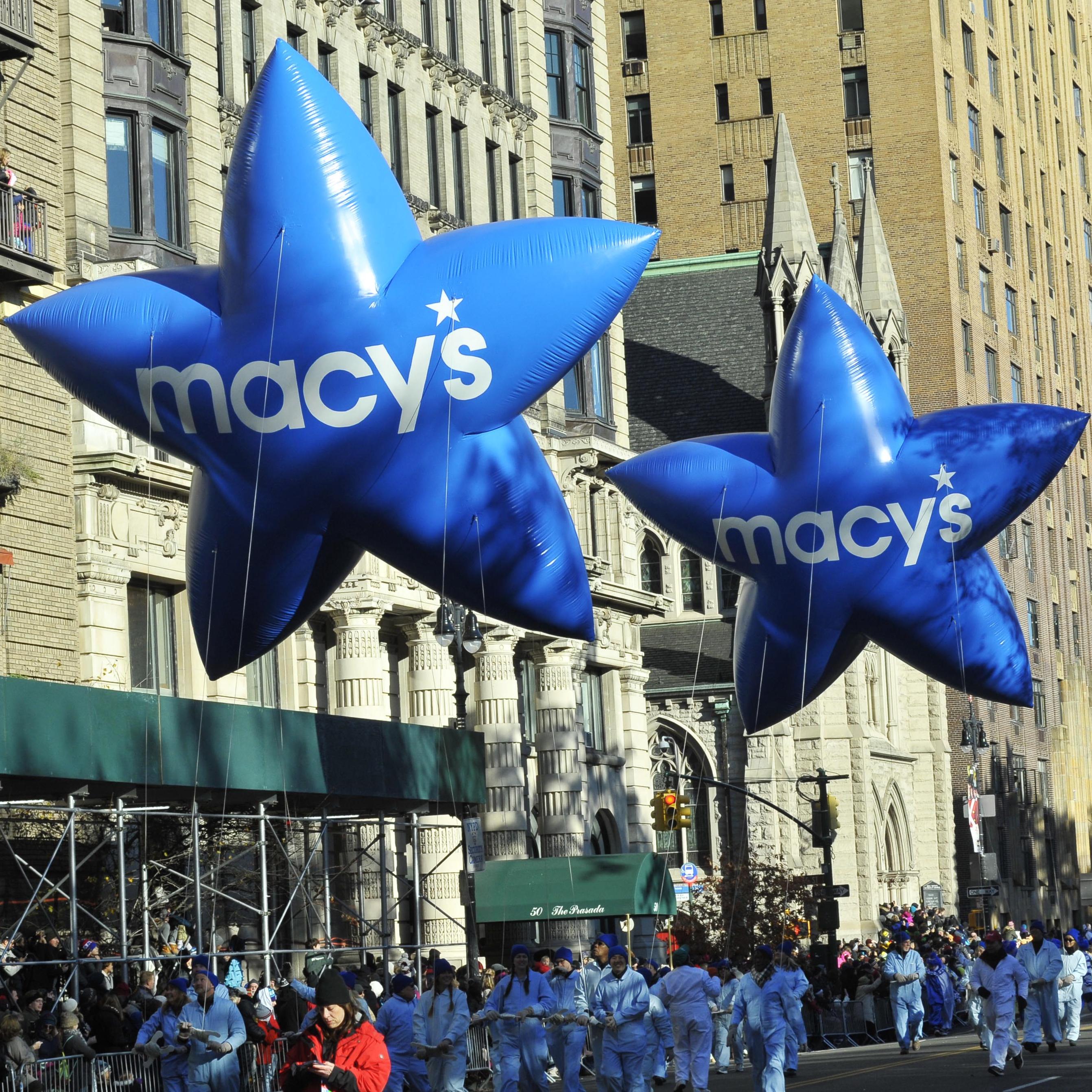 Blue & White Macy's Stars