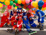 Hi-Roller Skating Clowns