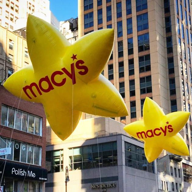 Yellow Macy's Stars
