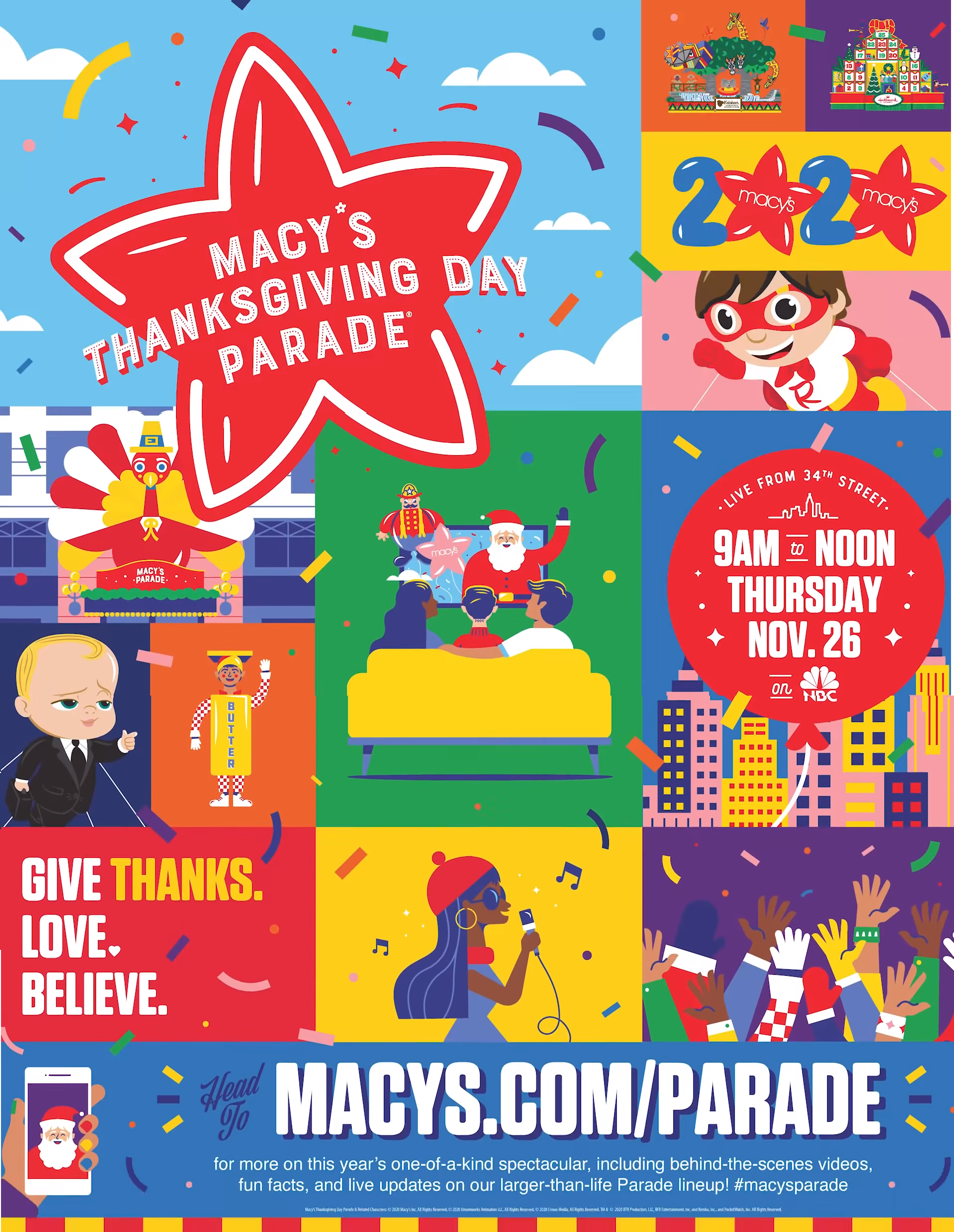 The 94th Annual Macy's Thanksgiving Day Parade