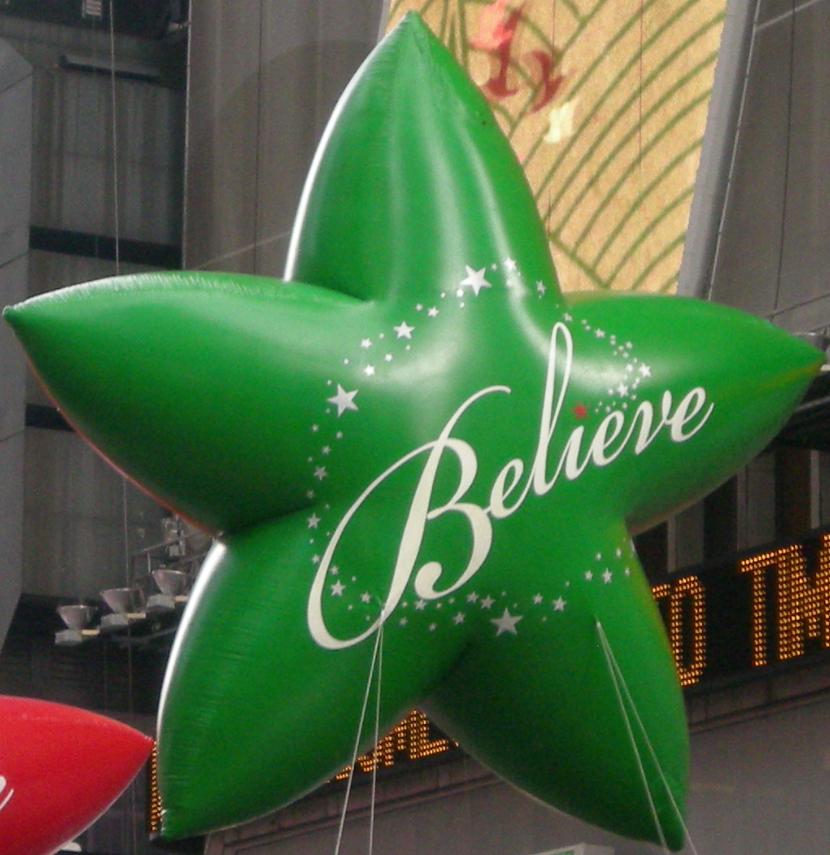 "Green ""Believe"" Star"