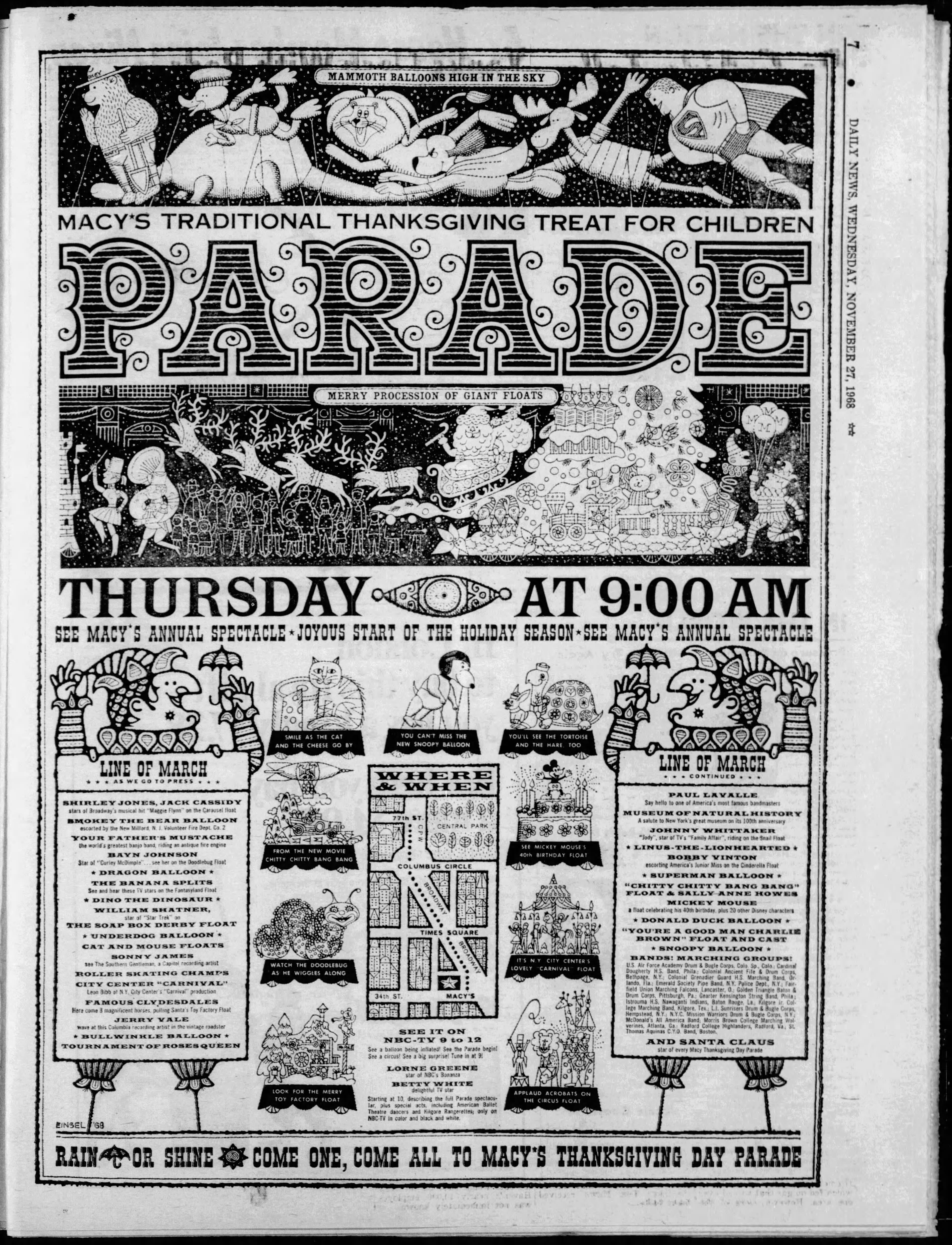 The 42nd Annual Macy's Thanksgiving Day Parade