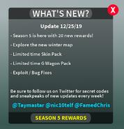Season 5 Changelog