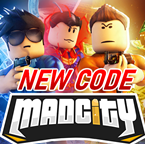 Default mad city thumbnail but with new code plastered on it