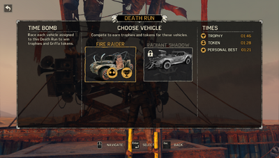 List of Vehicles used in the Even Rip Death Run
