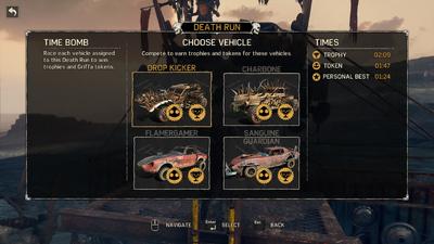 Pothole Ridge Vehicle List