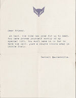 Curse of the Baskervilles Note