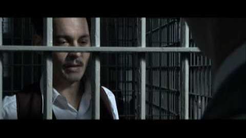 Purvis confronts Dillinger scene from Public Enemies (2009)
