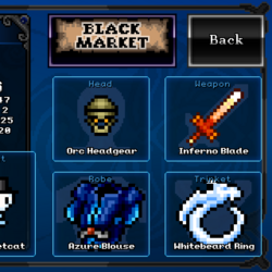 Weapons, Robes, Trinkets, and Pets