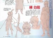 Hakuryuu Anime Design
