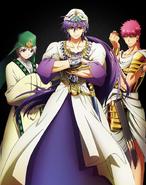 Sinbad, Jafar, Masrur anime