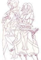 Hakuryuu and Nanaumi in Websunday Backstage Volume 262.png