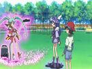 Sasami Mahou Shoujo Club Sasami and Misao using their magic2