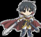 Happy Seven Shichifukujin Knight pose