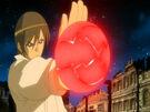 Kamichama Karin Kirio using an attack17