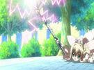 Kamichama Karin Athena using the God Thunder attack3