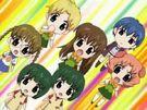 Happy Seven Kuriya, Tamon, Mahiru, Mina, Nami Kuan and Shouko