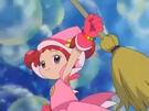 Ojamajo Doremi takes her broom