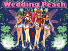 Wallpaper wedding peach