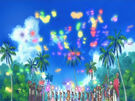 Sasami Mahou Shoujo Club Magical Girls using their magic2