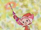 Ojamajo Doremi Poppu using her spell
