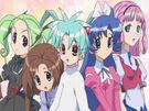 Sasami Mahou Shoujo Club Sasami, Misao, Makoto, Tsukasa and Anri