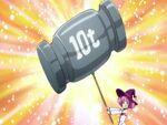 Majokko Mirakurun using her Mirakurun Super Donki attack.jpg