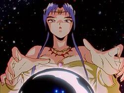 Rei Rei Kaguya using her crystal ball.jpg
