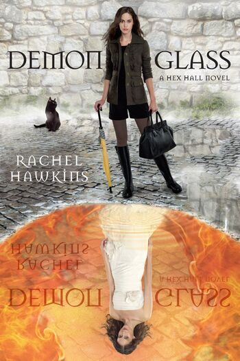 Cover book Demonglass by Rache Hawkins author of Hex Hall series.jpg