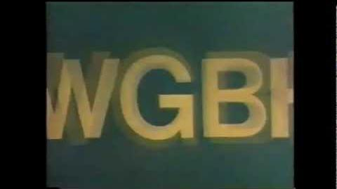 """WGBH Boston Logo """"Zooming WGBH"""" (1972, Faded Blue Variant)"""