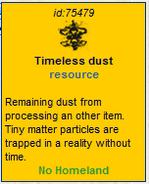 Timeless dust