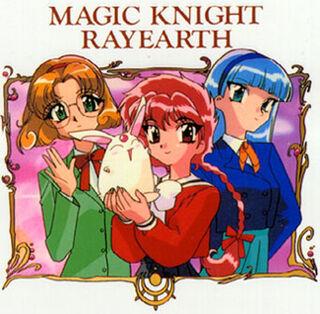 Hikaru Shidou, Fuu Hououji, and Umi Ryuzaki with Makona.jpg