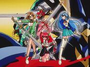 Magic Knight Rayearth Hikaru, Umi and Fuu2