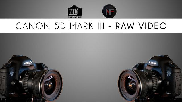 "RAW ""Video"" on Canon DSLRs with Magic Lantern"